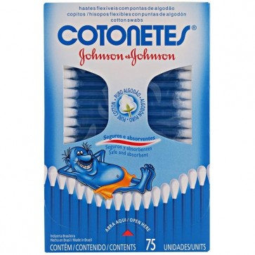 Cotonete Johnsons&Johnsons caixa c/75 unid,