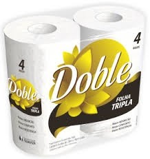 Papel Higiênico Tripla Folha Doble 4x20m