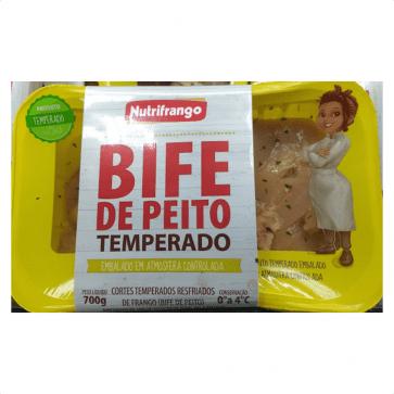 Bife de Peito de Frango  Temperado Nutrifrango 700g