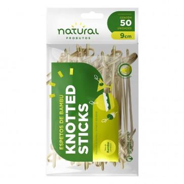 Espeto Bambú Knotted Sticks 9 cm c/50 Natural