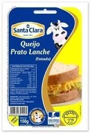 Queijo Prato fatiado Santa Clara 150g