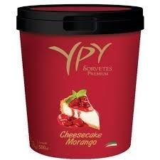 Sorvete YPY Cheesecake de Morango 500ml