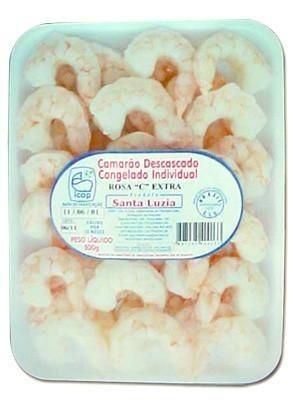 Camarão Descascado Congelado Rosa C Extra Santa Luzia 500g