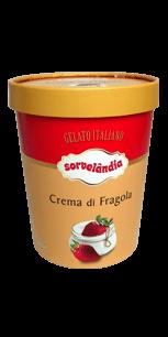 Sorvete Crema di Fragola Sorvelândia 950ml