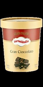 Sorvete Gran Cioccolato Sorvelândia 950ml