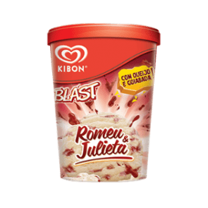 Sorvete Blast Romeu e Julieta Kibon 1L