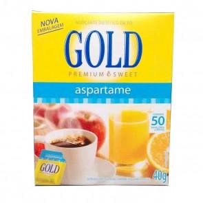 Adoçante em Pó Aspartame Gold 50 envelopes