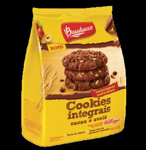 Cookies Integrais Cacau e Avelã Bauducco 140g