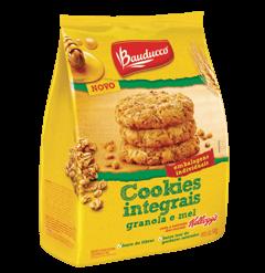 Cookies Integrais Granola e Mel Bauducco 140g