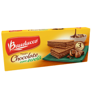 Wafer Chocolate com Avelã  Bauducco 140g