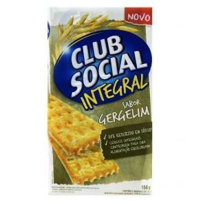 Biscoito Integral Sabor Gergelim Club Social 156g