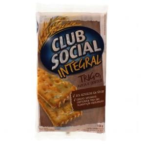 Biscoito Integral Trigo, Aveia e Centeio Club Social 156g