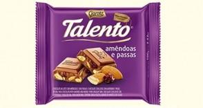 Chocolate em Barra Talento Amêndoas e Passas 100g