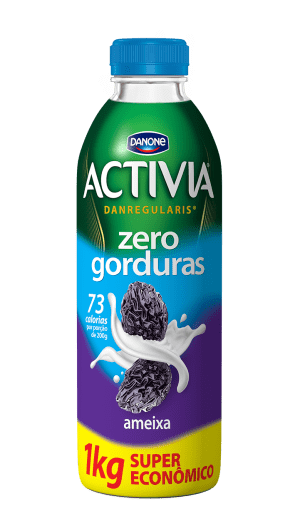Activia Ameixa Zero gorduras Danone 1Kg