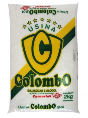 Açúcar Cristal Colombo 2kg
