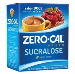 Adoçante Sucralose Zero Cal com 50 envelopes