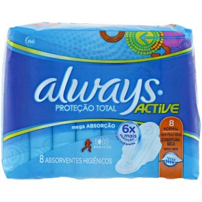 Absorvente Active Seca Com Abas Always c/8