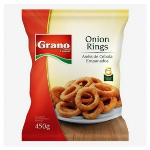 Anéis de Cebola Congelado Pré Frito Grano 450g