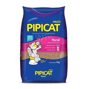 Areia Higiênica Para Gatos Perfumada Pipicat Kelco 4kg