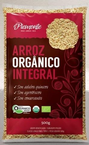 Arroz Integral Parboilizado Orgânico O Piemonte 500g
