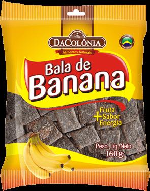 Bala de Banana Da Colônia 160g'