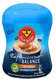 Cappuccino Balance 3 Corações Z.Lactose 180g