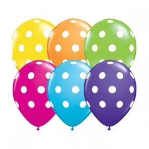 Balão Nº10 com Bolinhas Primavera Balloontech c/25Un.