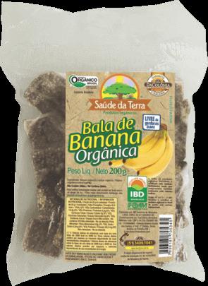 Bala de Banana Orgânica Da Colônia 200g