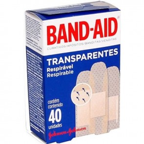 Band Aid Transparente 40unid.