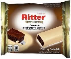 Barra de Cereal Brownie /Cobertura Branca Ritter c/3