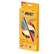 Lápis de Cor Bicolor 12c  Bic