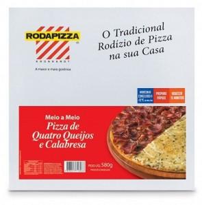 Pizza Quatro Queijos e Calabresa Roda Pizza 580g