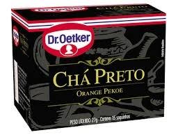 Chá Preto Dr. Oetker 15 saquinhos