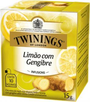 Chá Limão Com Gengibre Twinings C/ 10 Saquinhos