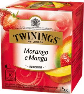 Chá Morango e Manga Twinings C/ 10 Saquinhos