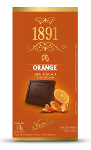 Chocolate 1891 Neugebauer Orange 55% Cacau 90g