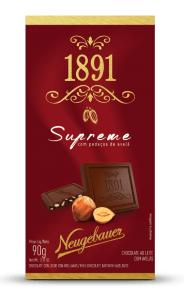 Chocolate 1891 Neugebauer Supreme com Pedaços de Avelã 90g