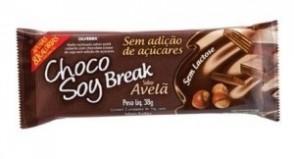 Chocolate Break Avelã s/ Adição de Açúcares s/ Lactose Choco Soy 38g
