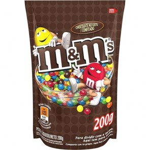 Chocolate Confeitado Sabor Chocolate ao Leite M&M's 200g