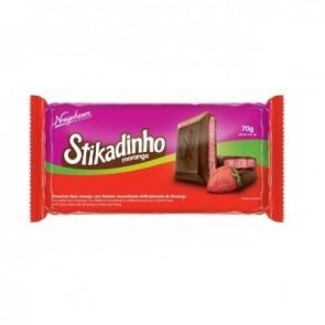 Chocolate Meio Amargo com Recheio de Morango Stikadinho 70g