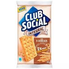 Biscoito Integral 5 Cereais Clube Social 144g