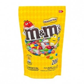 Confeitos de Amendoim Coberto com Chocolate M&M's 200g