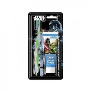 Conj. Escova Oral B Stages + Creme Dental Star Wars