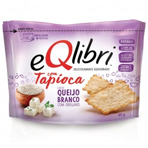 Biscoito Tapioca Queijo Branco com Orégano eQlibri 40g