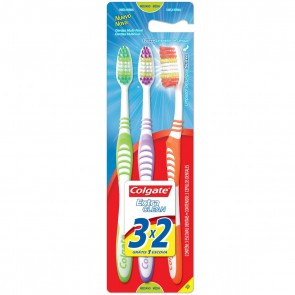Escova Dental Extra Clean Média Colgate 3X2