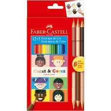 Lápis de Cor  C/15 Caras e Cores Faber-Castell