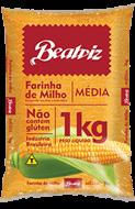 Farinha de Milho Media Beatriz Sem Glúten 1kg