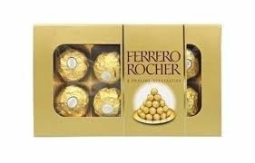 Bombom Ferrero Rocher Caixa c/ 8Unid. 100g