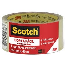 Fita Adesiva Corta Fácil 45x40mm Transparente Scotch