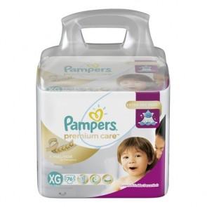 Fraldas Pampers Premium Care XG C/76